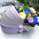 Цветы в коробке С новорожденным