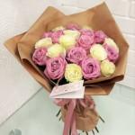 Букет из 21 розы Нежность