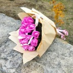 Букет из 25 розовых роз Un velo rosa