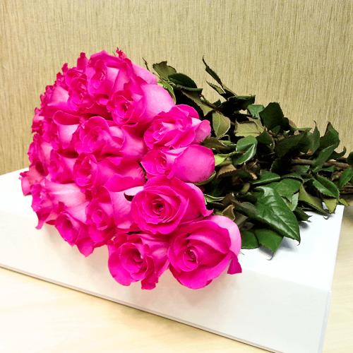 Букет из 25 роз Топаз