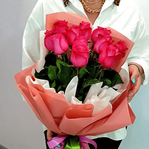 Букет из 11 роз Фламенко