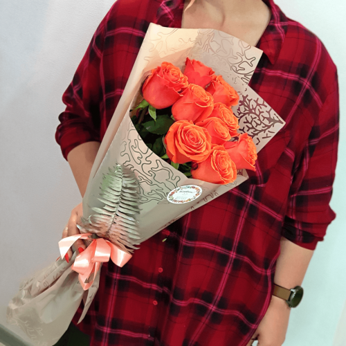 Букет из 9 роз Arancia