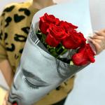 Букет из 9 роз Fuoco