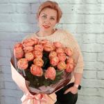 Букет из 25 пионовидных роз
